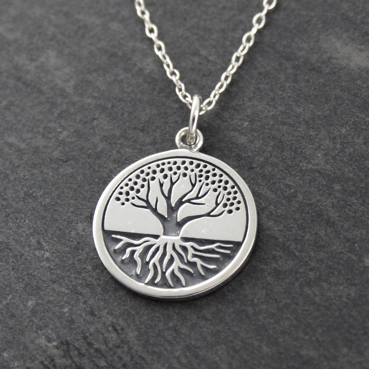 products pine maine pendant wearable tree diffuser lockets wellness side view anjaca