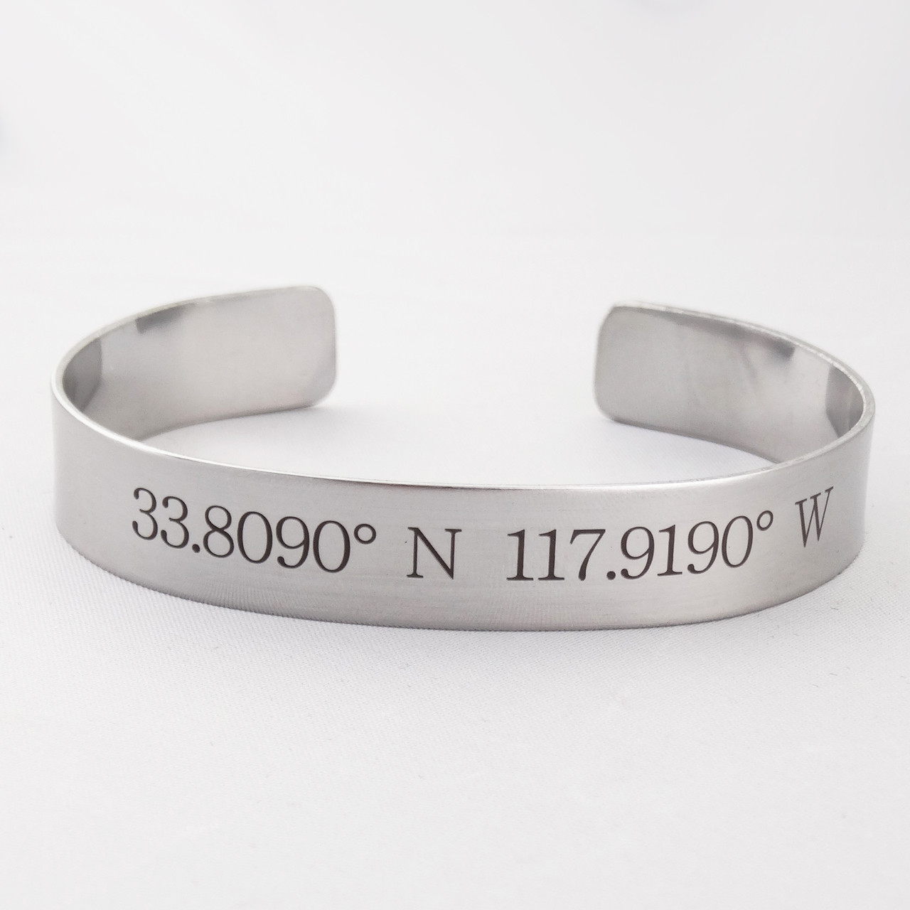 bracelet pin personalised latitude georgie longitude love