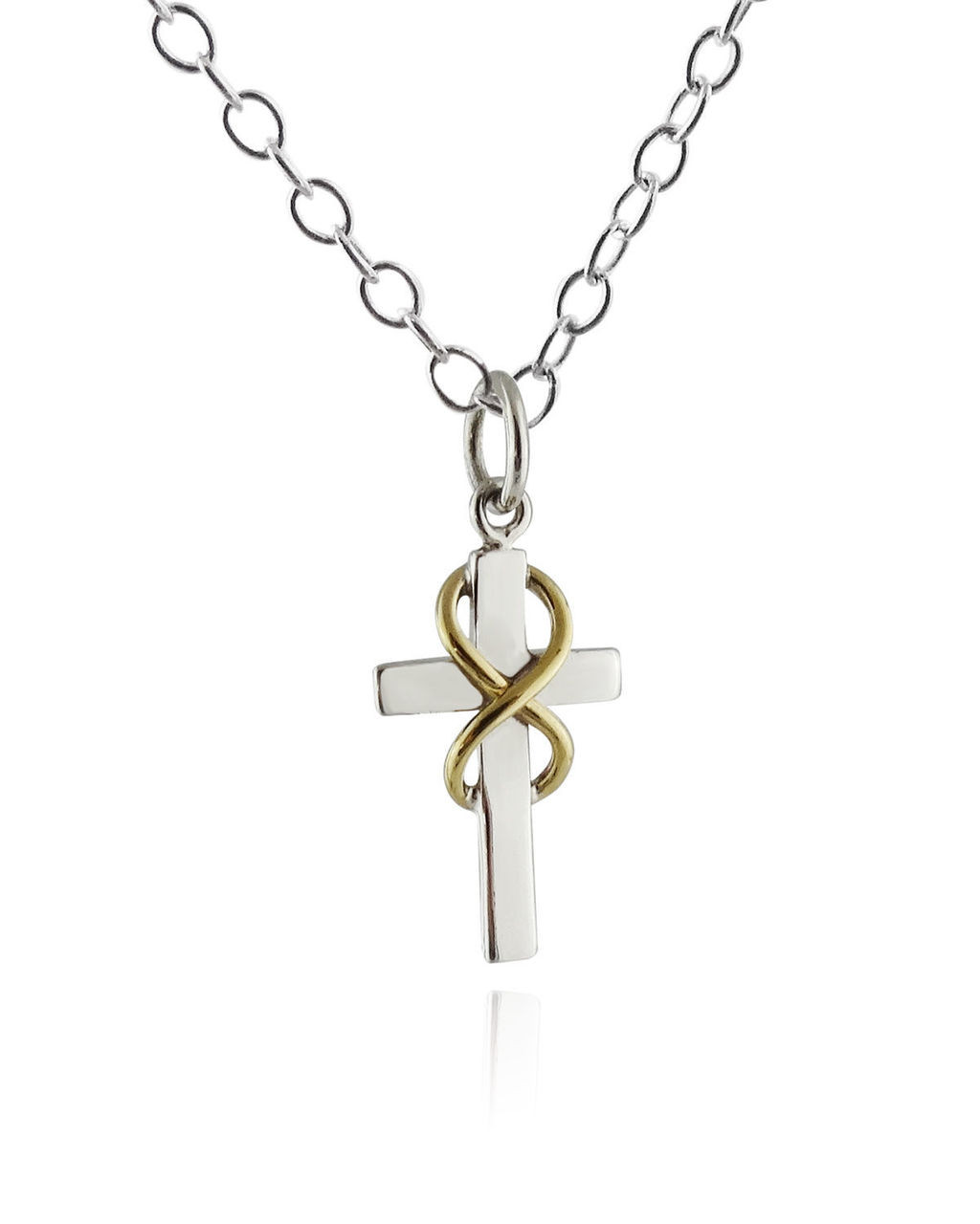 tiffany infinity necklace co pendant sterling cross silver
