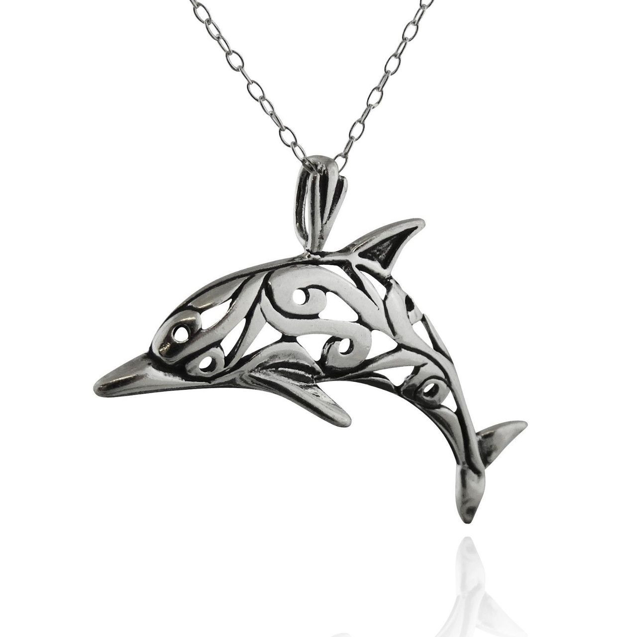 bs pend in charm dolphin silver single pendant shop sterling