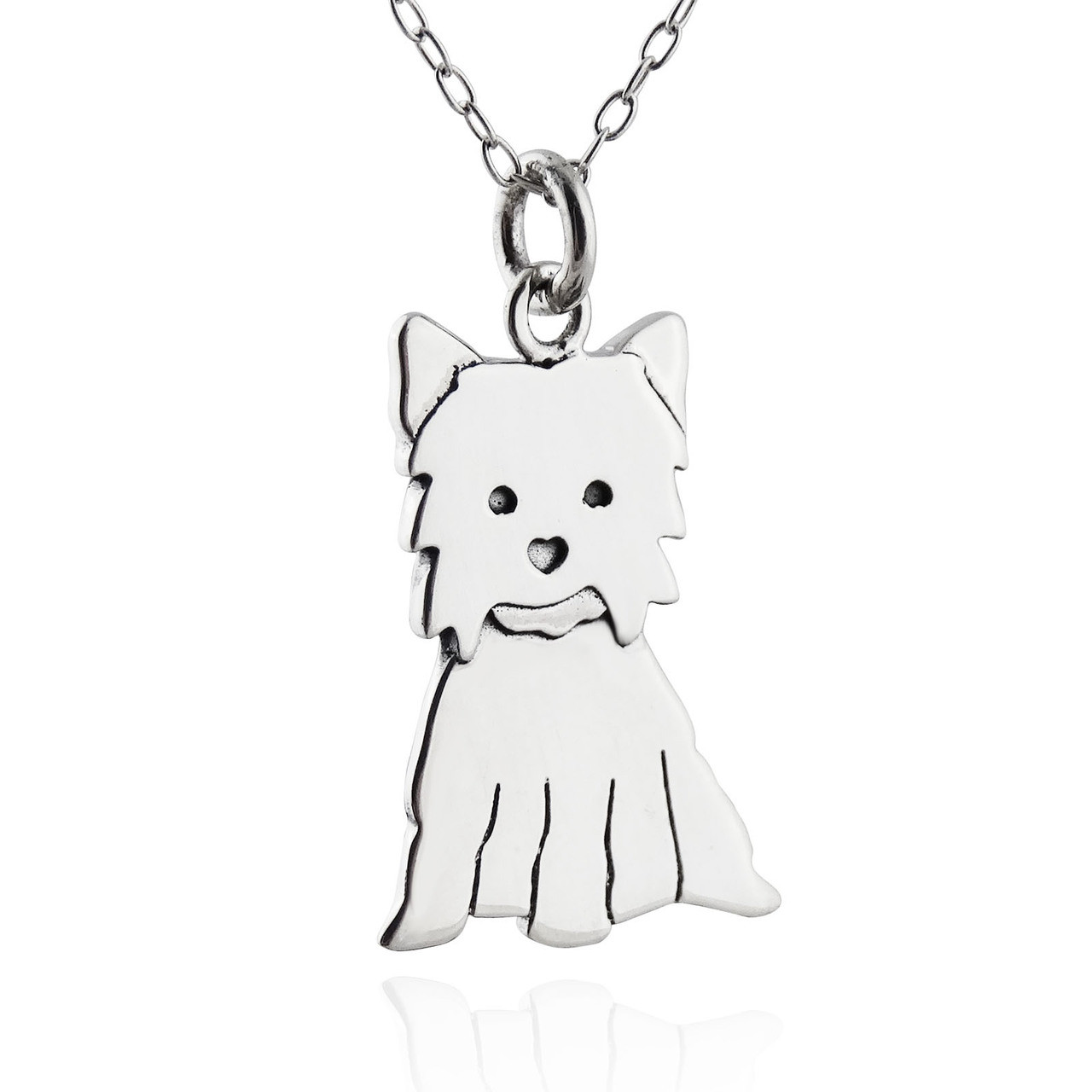 Yorkshire terrier or yorkie necklace sterling silver yorkshire terrier or yorkie necklace sterling silver aloadofball Choice Image