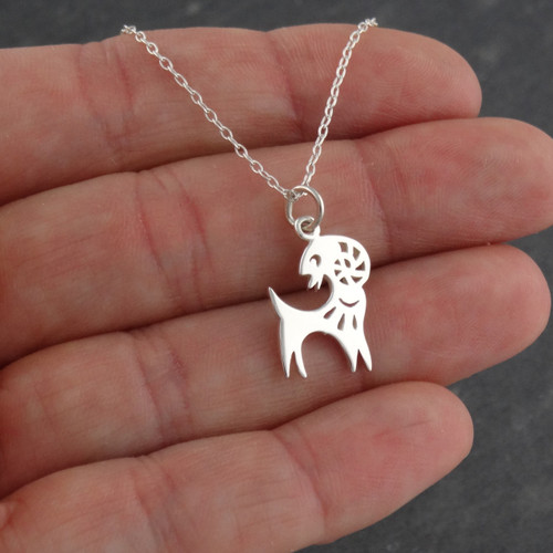 Year of the goat necklace sterling silver fashionjunkie4life year of the goat necklace sterling silver chinese zodiac pendant aloadofball Gallery