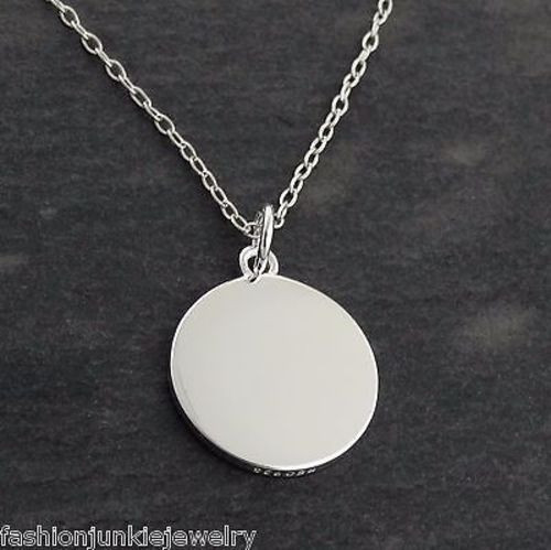 lyst pendant silver metallic jewelry engravable in fossil necklace