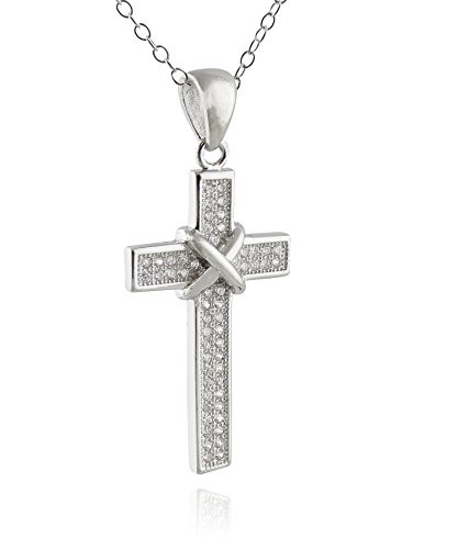 Sterling silver tied cz cross pendant necklace fashionjunkie4life sterling silver tied cz cross pendant necklace mozeypictures Choice Image