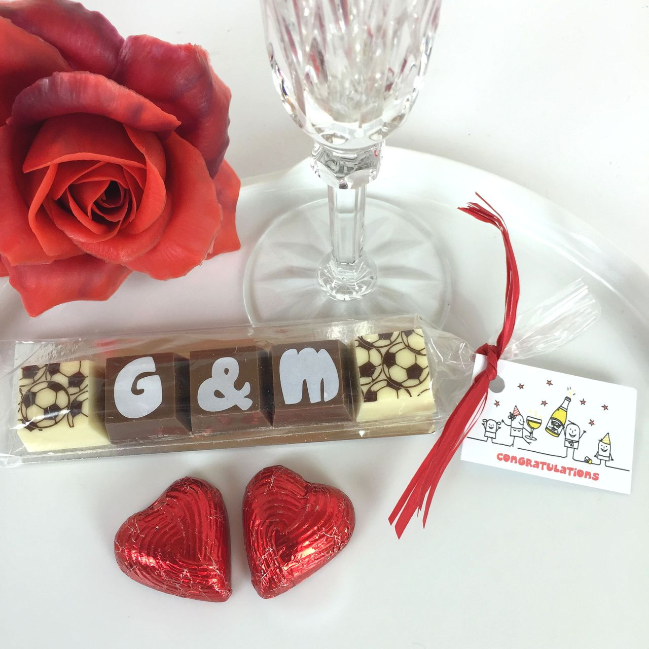Personalised Wedding and Party Favour Chocolate Initials