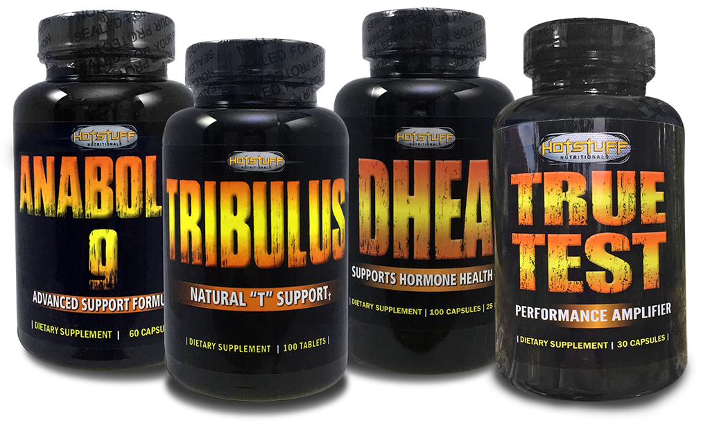 Test Booster Super Stack Combo  - True Test, Anabolic 9, Tribulus & DHEA