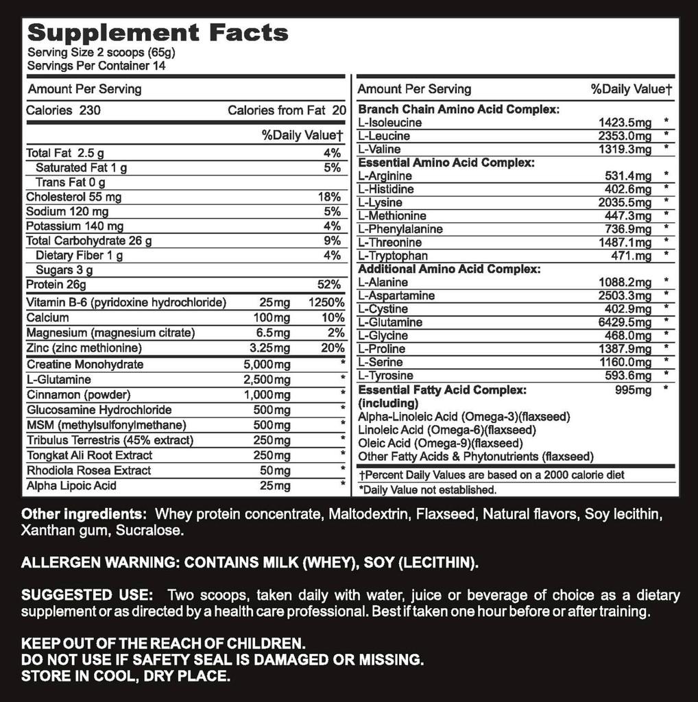 Kick Ass - Supplement Facts