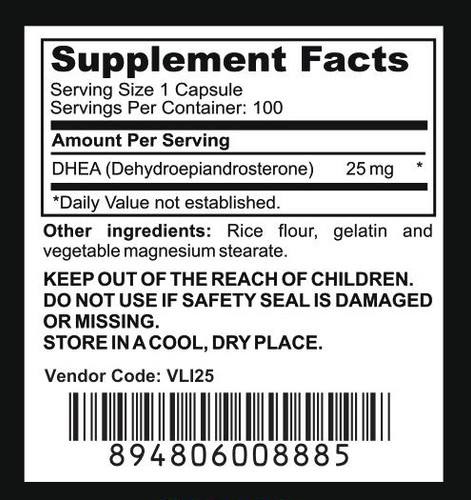DHEA - Supplement Facts