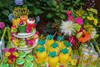 Kid's Tutti Frutti Party Package dessert table - Complete Party Kit  dessert cart and pineapple cups