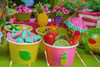 Kid's Tutti Frutti Party Package - Complete Party Kit dessert cart treat cups