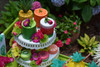 Kid's Tutti Frutti Party Package - Complete Party Kit dessert cart - Fruit cakes and macarons