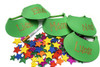 Preppy Golf Party Package - Complete Party Kit hat activity with sparkled star stickers