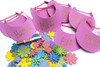 Girls Golf Party Package - Complete Party Kit hat activity with sparkle flower stickers