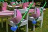 Girls Golf Party Package - Complete Party Kit full table with activity on chair