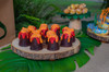 Dinosaur Party Package - Complete Party Kit Volcano cupcake dessert table