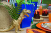 Dinosaur Party Package - Complete Party Kit table detail gold dinosaur
