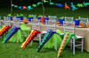 Dinosaur Party Package - Complete Party Kit full table with dinosaur tail chairs