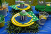 Adult Golf PAR-tee Package - Complete Party Kit - Tabletop Detail - Grass Placemats