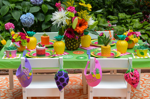 Kid's Tutti Frutti Party Package - Complete Party Kit full table decorations