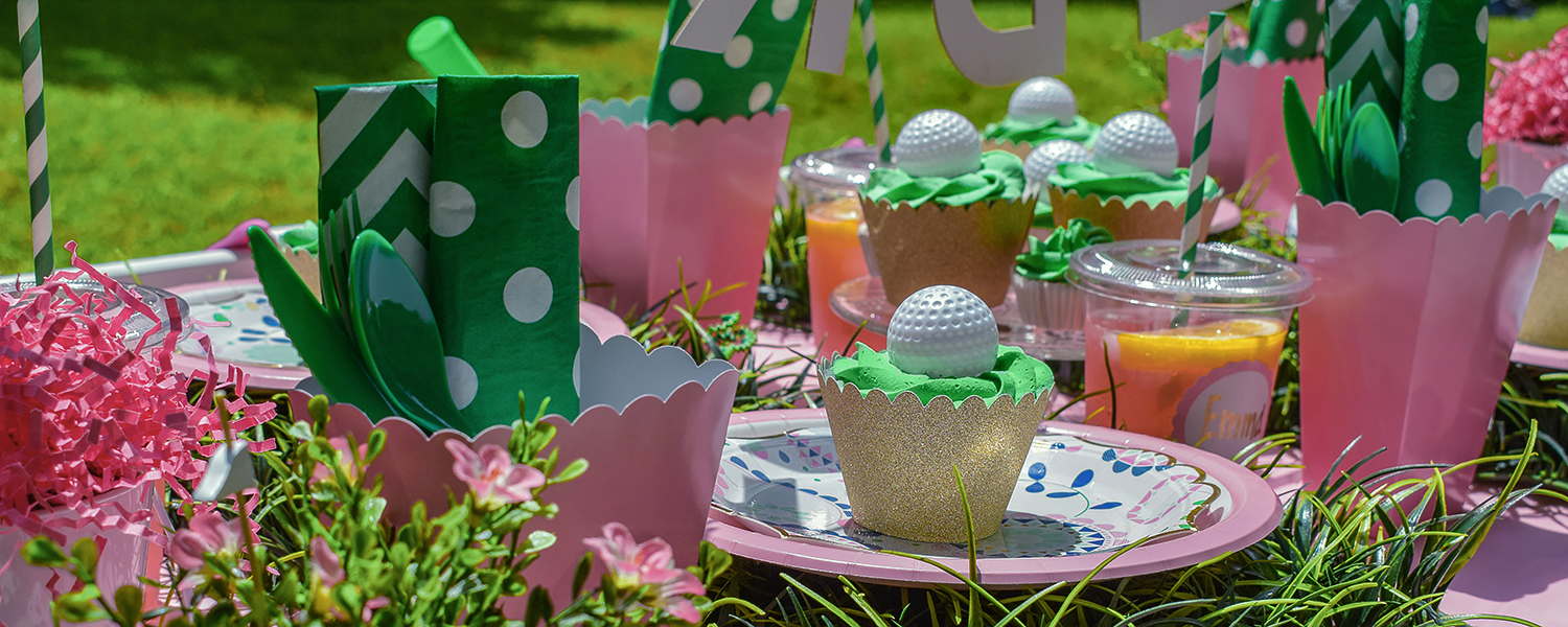 Girls Golf Party Package Pink