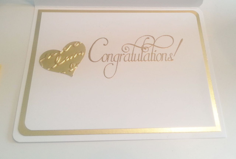 Embossed in Gold for a wedding card - So Suzy Stamps