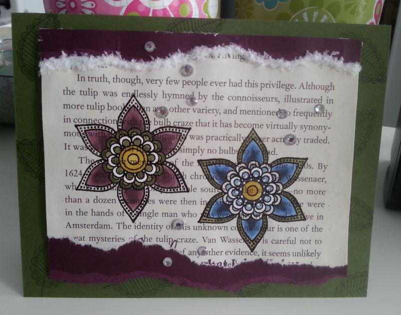Clematis Doodle Card