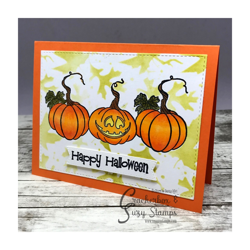Donna just used the Happy Halloween from the saying!