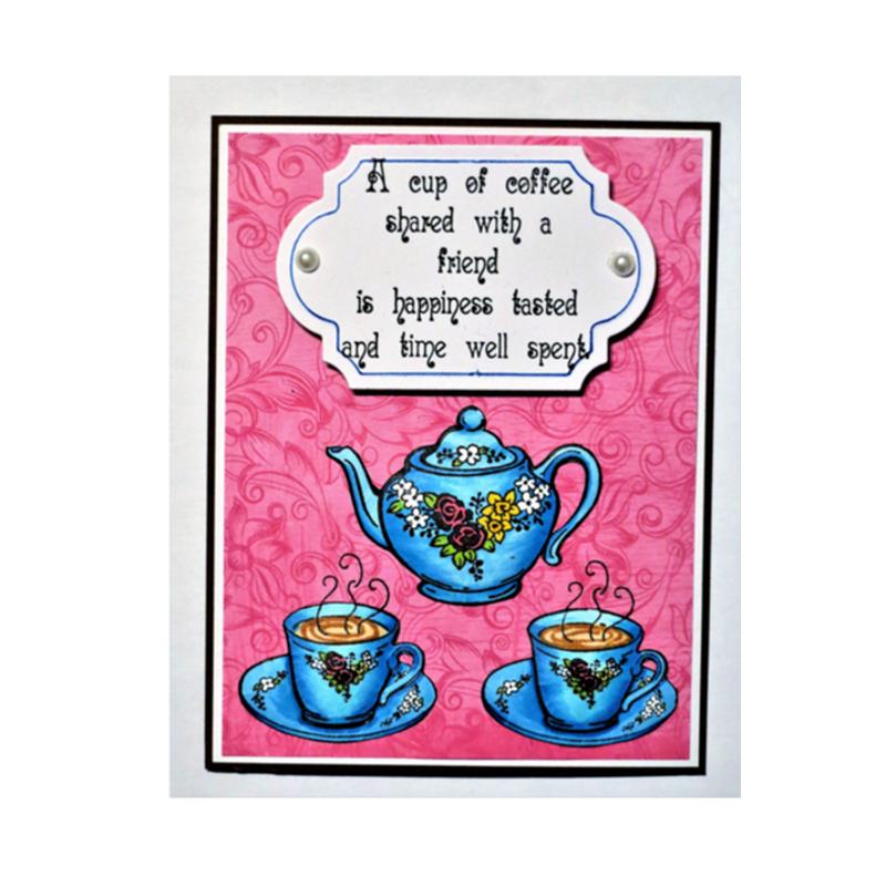 Coffee / Tea Pot with flowers
