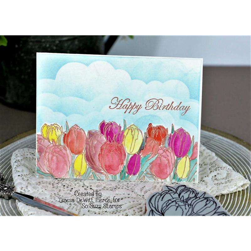 Teresa's Birthday Tulip card