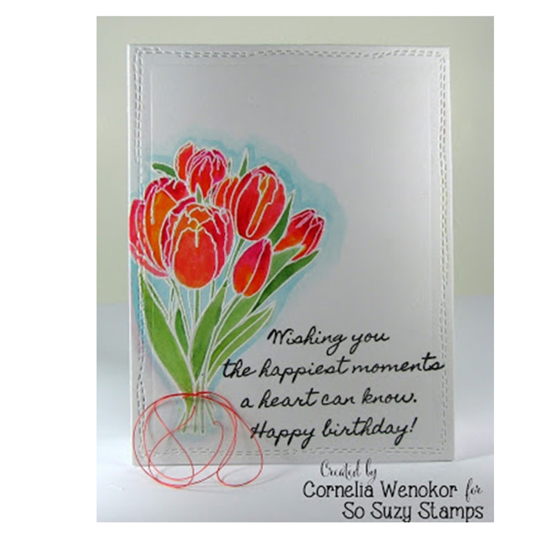 Birthday Tulips by Cornelia