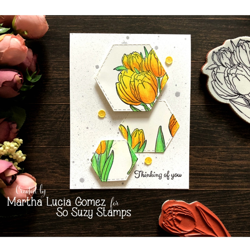 Coloring Tulips by Martha