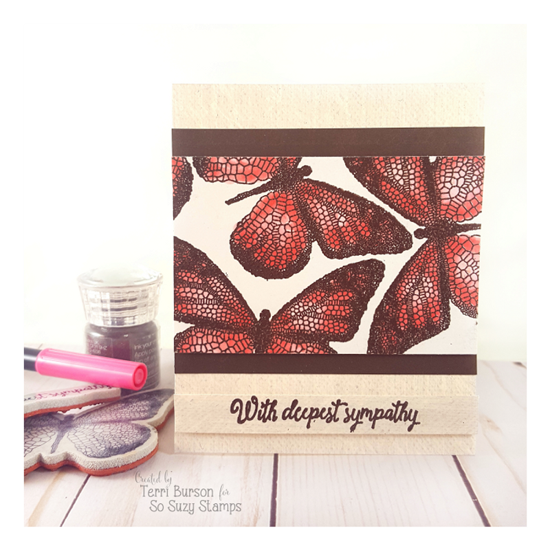 Embossed Butterflies Sympathy Card by Terri