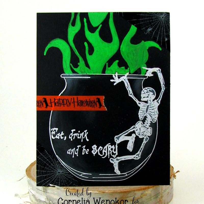 Halloween cauldron by Cornelia