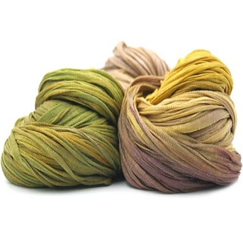 Trendsetter Yarns Allure has been hand dyed just for them. This ribbon yarn offers so many possibilities in your next knitting project.