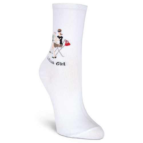 K.Bell Women's Wine Girl Crew Socks