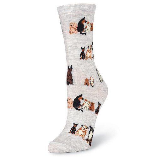 K.Bell Women's Sitting Dogs Crew Socks