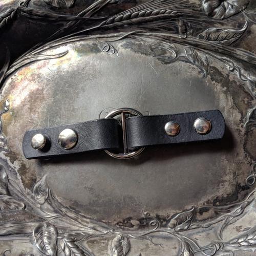 Jul Designs Cordoba Hidden Snap Leather Closure(Black)