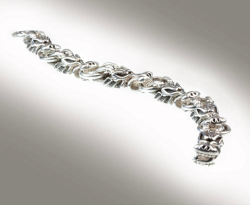 DraKo Collection Sterling Silver Dragon Head Bracelet