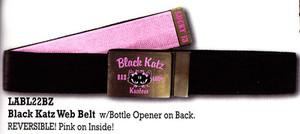 Lucky 13 Black Katz Web Belt