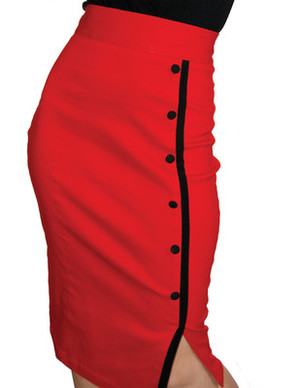 Steady Clothing Sarina Button Slit Skirt