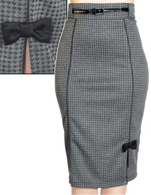 Steady Clothing Hot For Houndstooth Skirt