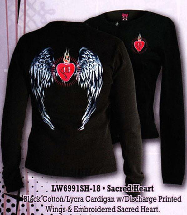 Lucky 13 Sacred Heart Cardigan