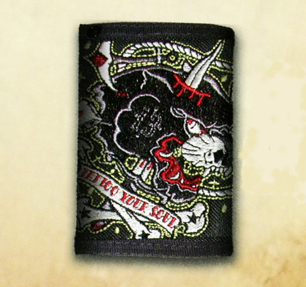 Lucky 13 Panther Velcro Tri-Fold Wallet
