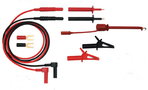Industrial / Automotive Basic Test Lead Kit with piercing hook & alligator clips