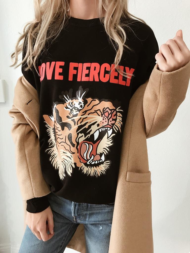Love Fiercely- Tiger Sweatshirt-