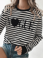 Striped- V Heart LS - Restocking Soon