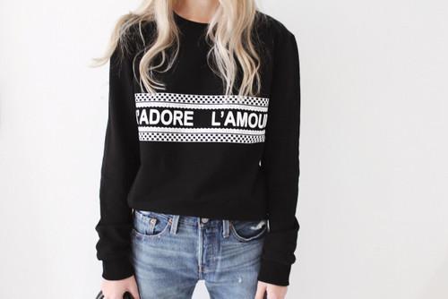 J'ADORE L'AMOUR - Sweathsirt