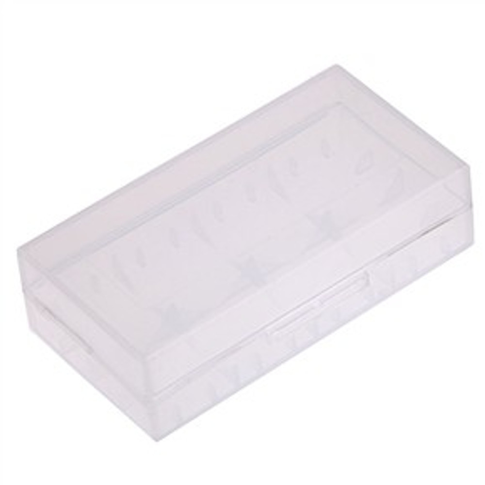 Dual Square Clear Battery Case for 18650