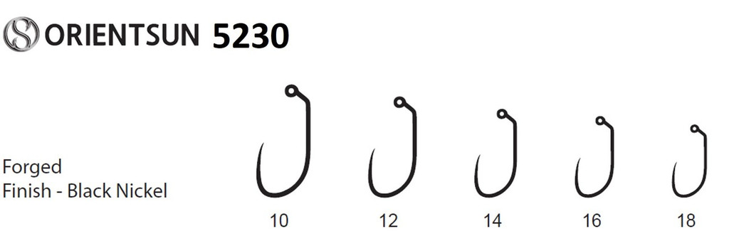 Orientsun 5230 Barbless Upturned Point Jig Nymph Hook