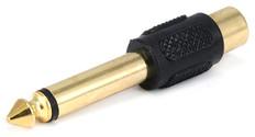 "1/4"" Mono Plug to RCA Jack Gold Adapter  AD-117G"